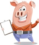 Farm Pig Cartoon Vector Character AKA Pigasso the Creative Pig - Notepad 1