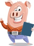 Farm Pig Cartoon Vector Character AKA Pigasso the Creative Pig - Notepad 2