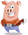 Farm Pig Cartoon Vector Character AKA Pigasso the Creative Pig - Notepad 3