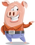 Farm Pig Cartoon Vector Character AKA Pigasso the Creative Pig - Showcase 2