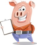 Farm Pig Cartoon Vector Character AKA Pigasso the Creative Pig - Notepad 4