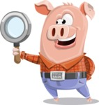 Farm Pig Cartoon Vector Character AKA Pigasso the Creative Pig - Search
