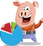 Farm Pig Cartoon Vector Character AKA Pigasso the Creative Pig - Chart