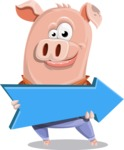 Farm Pig Cartoon Vector Character AKA Pigasso the Creative Pig - Pointer 2