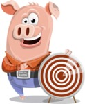 Farm Pig Cartoon Vector Character AKA Pigasso the Creative Pig - Target