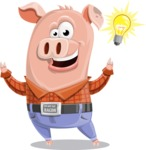 Farm Pig Cartoon Vector Character AKA Pigasso the Creative Pig - Idea 2