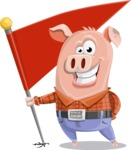 Farm Pig Cartoon Vector Character AKA Pigasso the Creative Pig - Checkpoint