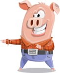 Farm Pig Cartoon Vector Character AKA Pigasso the Creative Pig - Show 2