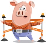 Farm Pig Cartoon Vector Character AKA Pigasso the Creative Pig - Under Construction 2