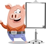 Farm Pig Cartoon Vector Character AKA Pigasso the Creative Pig - Presentation 1