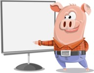 Farm Pig Cartoon Vector Character AKA Pigasso the Creative Pig - Presentation 2