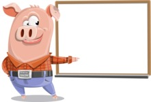 Farm Pig Cartoon Vector Character AKA Pigasso the Creative Pig - Presentation 3