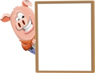 Farm Pig Cartoon Vector Character AKA Pigasso the Creative Pig - Presentation 4