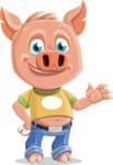 Cute Piglet Cartoon Vector Character AKA Paul the Little Piglet - Normal