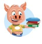Cute Piglet Cartoon Vector Character AKA Paul the Little Piglet - Shape 1