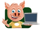 Cute Piglet Cartoon Vector Character AKA Paul the Little Piglet - Shape 2
