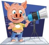 Cute Piglet Cartoon Vector Character AKA Paul the Little Piglet - Shape 5