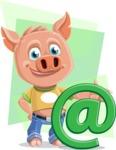 Cute Piglet Cartoon Vector Character AKA Paul the Little Piglet - Shape 7