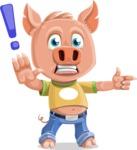 Cute Piglet Cartoon Vector Character AKA Paul the Little Piglet - DirectAttention 2