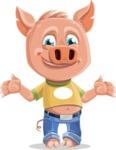 Cute Piglet Cartoon Vector Character AKA Paul the Little Piglet - Sorry