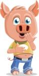 Cute Piglet Cartoon Vector Character AKA Paul the Little Piglet - Shocked