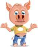Cute Piglet Cartoon Vector Character AKA Paul the Little Piglet - Lost
