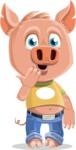 Cute Piglet Cartoon Vector Character AKA Paul the Little Piglet - Oops