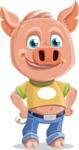 Cute Piglet Cartoon Vector Character AKA Paul the Little Piglet - Patient