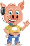 Cute Piglet Cartoon Vector Character AKA Paul the Little Piglet - Support