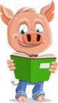 Cute Piglet Cartoon Vector Character AKA Paul the Little Piglet - Book 1