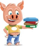 Cute Piglet Cartoon Vector Character AKA Paul the Little Piglet - Book 2