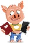 Cute Piglet Cartoon Vector Character AKA Paul the Little Piglet - Book and iPad