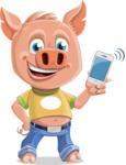 Cute Piglet Cartoon Vector Character AKA Paul the Little Piglet - iPhone