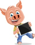 Cute Piglet Cartoon Vector Character AKA Paul the Little Piglet - iPad 2