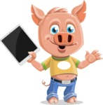 Cute Piglet Cartoon Vector Character AKA Paul the Little Piglet - iPad 3
