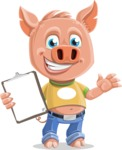 Cute Piglet Cartoon Vector Character AKA Paul the Little Piglet - Notepad 1
