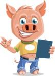 Cute Piglet Cartoon Vector Character AKA Paul the Little Piglet - Notepad 2