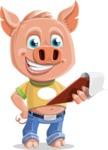 Cute Piglet Cartoon Vector Character AKA Paul the Little Piglet - Notepad 3