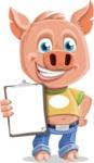 Cute Piglet Cartoon Vector Character AKA Paul the Little Piglet - Notepad 4