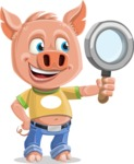 Cute Piglet Cartoon Vector Character AKA Paul the Little Piglet - Search
