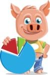 Cute Piglet Cartoon Vector Character AKA Paul the Little Piglet - Chart