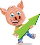 Cute Piglet Cartoon Vector Character AKA Paul the Little Piglet - Pointer 1