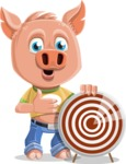 Cute Piglet Cartoon Vector Character AKA Paul the Little Piglet - Target