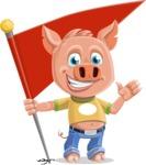 Cute Piglet Cartoon Vector Character AKA Paul the Little Piglet - Checkpoint