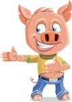 Cute Piglet Cartoon Vector Character AKA Paul the Little Piglet - Show 2