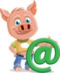 Cute Piglet Cartoon Vector Character AKA Paul the Little Piglet - Email