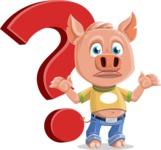 Cute Piglet Cartoon Vector Character AKA Paul the Little Piglet - Question
