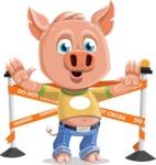 Cute Piglet Cartoon Vector Character AKA Paul the Little Piglet - Under Construction 2
