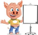 Cute Piglet Cartoon Vector Character AKA Paul the Little Piglet - Presentation 1