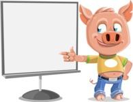 Cute Piglet Cartoon Vector Character AKA Paul the Little Piglet - Presentation 2